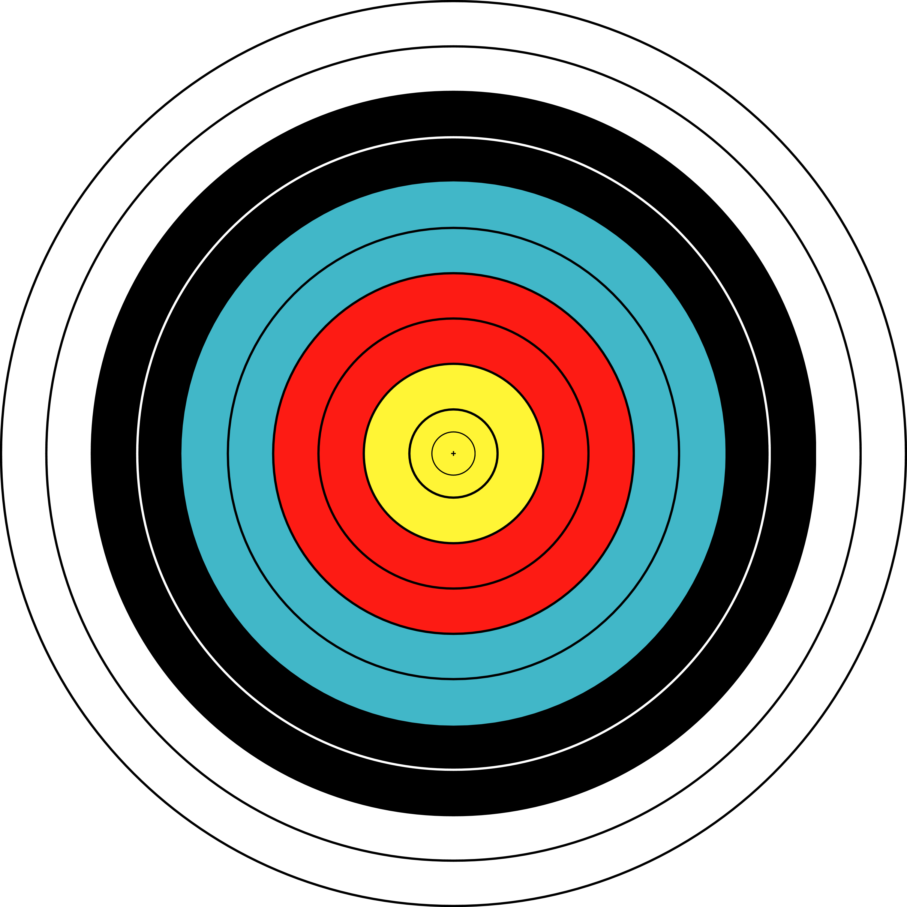 Trust image in printable archery targets